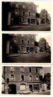 """3 Photos Originales Renault Dauphine Devant L'épicerie """" L'Economique """" & Femmes à La Fenêtre Vers 1950/60 - Automobiles"""