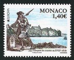 "MONACO - EUROPA 2020 -""ANTIGUAS RUTAS POSTALES - ANCIENT POSTAL ROUTES"" - SERIE De 1 V. - N - 2019"