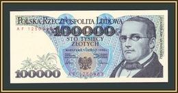 Poland 100000  Zlotych 1990 P-154 (154a) UNC - Poland