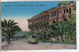 Cpa Genova Circonvallazione A Mars Villa Milyus - Genova (Genoa)