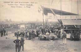08-CHARLEVILLE- MEZIERES- CHAMP D'AVIATION, LE PASAGE - CIRCUIT DE L'EST AVIATION , AOUT 1910 - Charleville