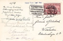 AUSTRIA - ANSICHTSKARTE 1937 ZELL Am SEE - WIESBADEN /T248 - 1918-1945 1. Republik