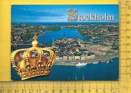 CPM  SUEDE, UPPLAND, STOCKHOLM : Vue Aérienne, Gamla Stam Med Slottet - Suède