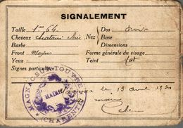 CARTE D IDENTITE - Cartes