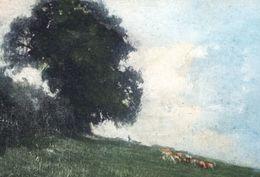Carte Aspect Pastel Troupeau Pré Illustrateur MUNK MM VIENNE Nr 769 Signature  Pastel Look Card Herd In A Meadow. - Vienne