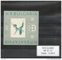 Bulgarie. Bloc Feuillet. Jeux Olypimpiques D'innsbruck. Patineuse - Blocks & Kleinbögen