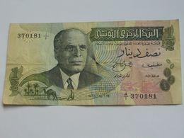 1/2 Un Demi  Dinar 1973 - Banque Centrale De Tunisie **** EN ACHAT IMMEDIAT **** - Tunisie