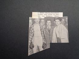 """Origineel Knipsel ( 5131 ) Uit Tijdschrift """" Ons Volk """"  1934 :   Boks  Boksen  Boxe - Vieux Papiers"""