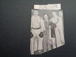 """Origineel Knipsel ( 5132 ) Uit Tijdschrift """" Ons Volk """"  1934 :   Boks  Boksen  Boxe - Vieux Papiers"""