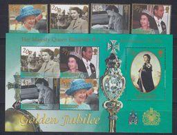 South Georgia 2002 Golden Jubilee 4v + M/s  ** Mnh (48601) - Géorgie Du Sud