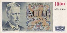 Belgium 1000 Francs - [ 2] 1831-... : Koninkrijk België