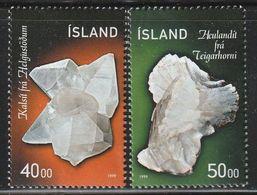 ISLANDE - N°870/1 ** (1999) Minéraux - Minerals