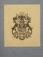 Ex-libris Ou Représentation Héraldique XIXème - BELGIQUE - DU BUS DE GISIGNIES - Ex Libris