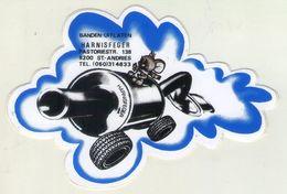 AUTOCOLLANT .  STICKER . BANDEN -UITLATEN . PNEU - ECHAPPEMENT . HARNISFEGER . PASTORIESTRAAT 138 . SINT-ANDRIES . 8200 - Stickers