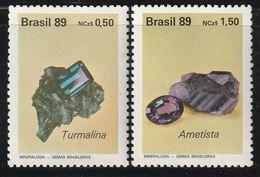 BRESIL - N°1927/8 ** (1989) Minéraux - Minerals