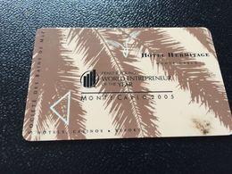 Hotelkarte Clef De Hotel Tarjeta Hotel Room Key HOTEL HERMITAGE  MONTE CARLO - Phonecards
