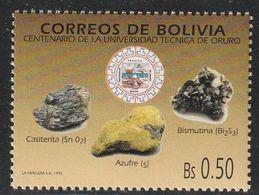 BOLIVIE - N°800 ** (1992) Minéraux - Minerals