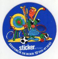 AUTOCOLLANT .  STICKER  SERVICE . DESSIN  JEAN-POL . ZEEFDRUK DE BOER . KAUWEREELSTRAAT 17 . 3050. SINT-JORIS-WEERT - Stickers