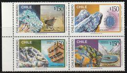 BOLIVIE - N°1381/4 ** (1996) Minéraux - Minerals