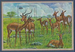 Bloc Timbre Neuf Gommé Dentelé Antilope Impala République Rwandaise - Sellos