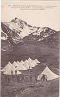Savoie : BOUR-SAINT-MAURICE : Militaria : Les Chapieux - Camp Militaire De La Gitte - Chasseurs Alpins Aux Travaux : - Manoeuvres