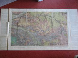 Carte Topographique Géologique Entoilée LOCHES CHINON MONTBAZON AZAY LIGUEIL RICHELIEU VILLEPERDUE 1/80 000 1846/1891 - Cartes