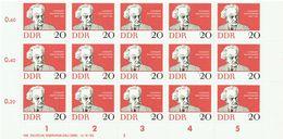 DDR 1962 Mi 925 Gerhart Hauptmann Noble Prize Block Of 15 Scott# 633 MUH - Blokken