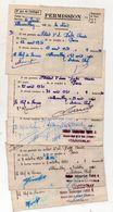 (militaria)  Villacoublay : Lot De 5 Permissions 1950 (PPP23344) - Documents