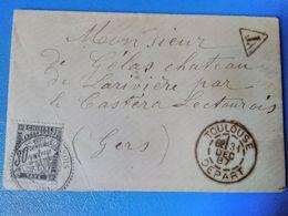 1887 - TOULOUSE Vers CASTERA-LECTOUROIS - 30 Centimes à Percevoir - T - Cachets Bien Frappés - - Postage Due