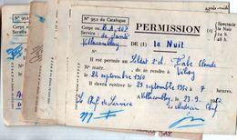 (militaria)  Villacoublay : Lot De 5 Permissions 1950 (PPP23345) - Documents