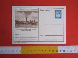 ZN5 GERMANY GERMANIA DEUTSCHE BUNDES 1964 POSTCARD MINT ULM CITY SKY LINE DONAU DANUBBIO FIUME RIVER - Holidays & Tourism