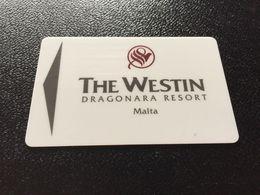 Hotelkarte Clef De Hotel Tarjeta Hotel Room Key  THE WESTIN DRAGONARA MALTA - Phonecards