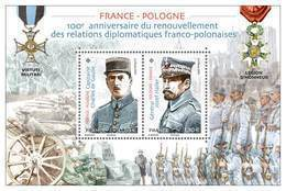 France 2019 -  Yv N° F5311 ** - Feuillet  FRANCE - POLOGNE  ( Charles De Gaulle Et Jozef Haller) 5311 & 5312 - Nuevos