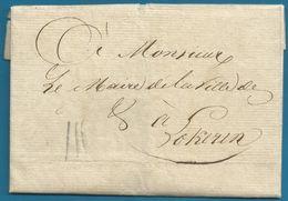 (T-111) Belgique - Précurseur - LAC Du 8/10/1808 De ST NICOLAS Vers Lokeren + Port III Au Crayon Noir - 1794-1814 (Periodo Frances)