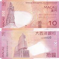 Macao Macau - 10 Patacas 2013 UNC BNU P. 80c Lemberg-Zp - Macau