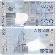 Macao Macau - 100 Patacas 2013 UNC Pick 82c(1) BNU Lemberg-Zp - Macau