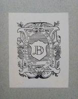 Ex-libris Illustré XIXème - PAYS BAS - J.B. DOURET - Ex Libris