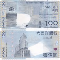 Macao Macau - 100 Patacas 2013 UNC Pick 82c(2) BNU Lemberg-Zp - Macau