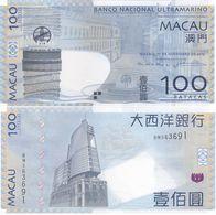 Macao Macau - 100 Patacas 2013 UNC Pick 82c(3) BNU Lemberg-Zp - Macau