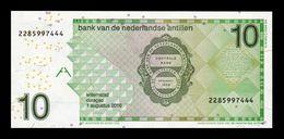 Antillas Holandesas Netherland Antilles 10 Gulden Colibri 2016 Pick 28h SC UNC - Netherlands Antilles (...-1986)