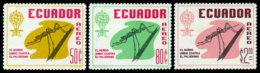 Ecuador, 1963, Fight Against Malaria, WHO, United Nations, MNH, Michel 1095-1097 - Ecuador