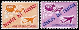 Ecuador, 1963, World Postal Congress, UPU, United Nations, MNH, Michel 1098-1099 - Ecuador