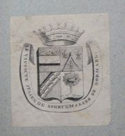 Ex-libris Héraldique XIXème - BELGIQUE - LE VICOMTE JULIEN DE SCHRYNMAKERS DE DORMAEL - Ex Libris