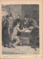 Firmarono Il Patto Di Fratellanza Che Doveva... (Mazzini). Stampa 1891 - Documentos Antiguos