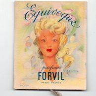 Carte Parfumée- Calendrier 1955  FORVIL EQUIVOQUE  (PPP23351) - Calendriers