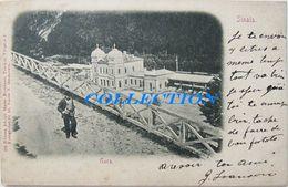 SINAIA 1900, Vedere Spre GARA, Gare Station, Bahnhof, Raritate Cu Timbru - Romania