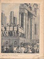 I Condannati Udirono La Sentenza Capitale Esposti Al Pubblico.... (Mazzini). Stampa 1891 - Documentos Antiguos