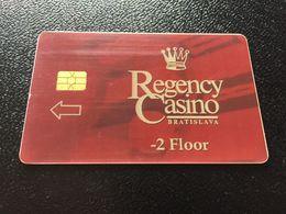 Hotelkarte Clef De Hotel Tarjeta Hotel Room Key  CROWNE PLAZA REGENCY CASINO  BRATISLAVA - Phonecards
