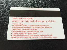 Hotelkarte Clef De Hotel Tarjeta Hotel Room Key  STENA LINE With CASINO - Phonecards