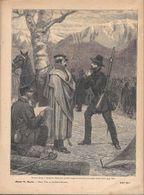 Mazzini Prega E Scongiura Ramorino Perché Ripigli Il Cammino. Stampa 1891 - Documentos Antiguos